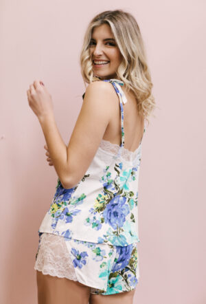 """Amelia Lace Short in """"Blooming Blues"""""""
