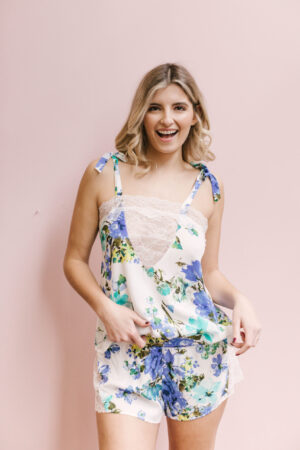 """Amelia Lace Cami in """"Blooming Blues"""""""