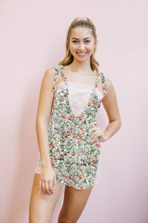 Amelia Lace Cami in Floral Haven